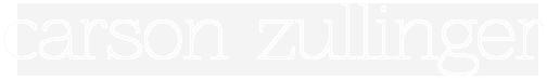 Carson Zullinger